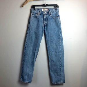 Levi's Regular Fit Lightwash Denim 505 Mom Jeans